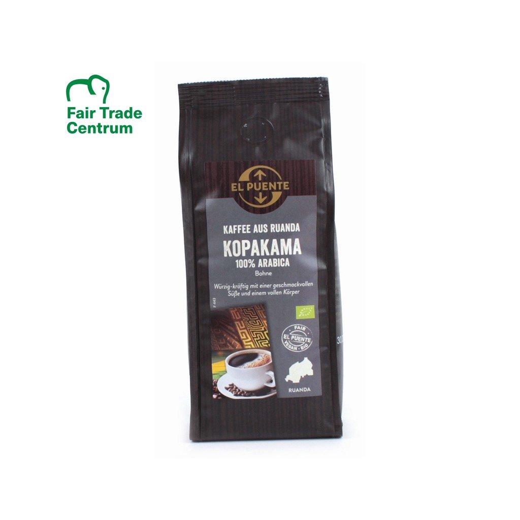 Fair trade bio zrnková káva arabika ze Rwandy Kopakama, 250 g