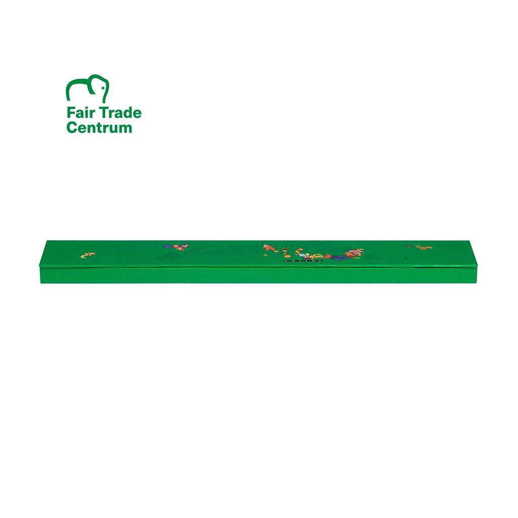 Dárková zaklapávací krabička Zotter na 3 čokolády, zelená