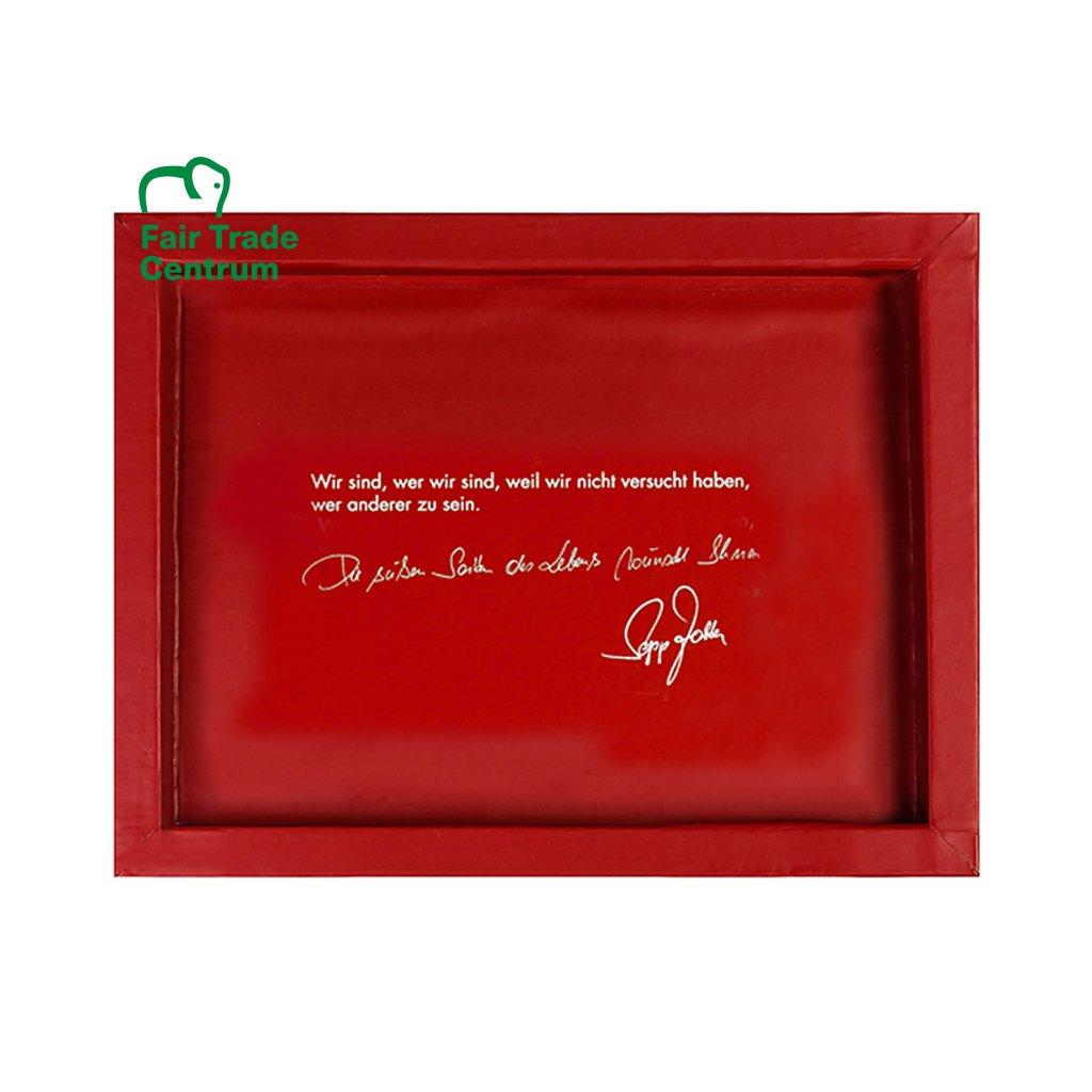 Dárková krabička Zotter na 3 čokolády, červená