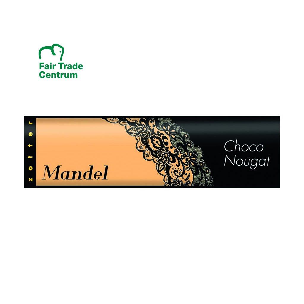 Fair Trade bio čokoládový nugát s mandlemi, 130 g