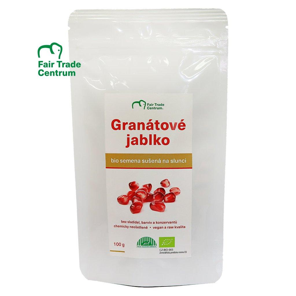 Fair trade bio granátové jablko, semena sušená na slunci, 100 g