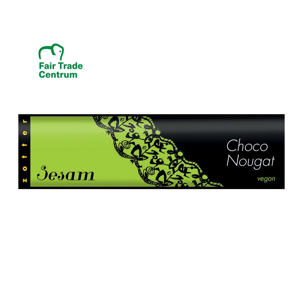 Fair Trade bio čokoládový nugát Zotter se sezamem, 130 g