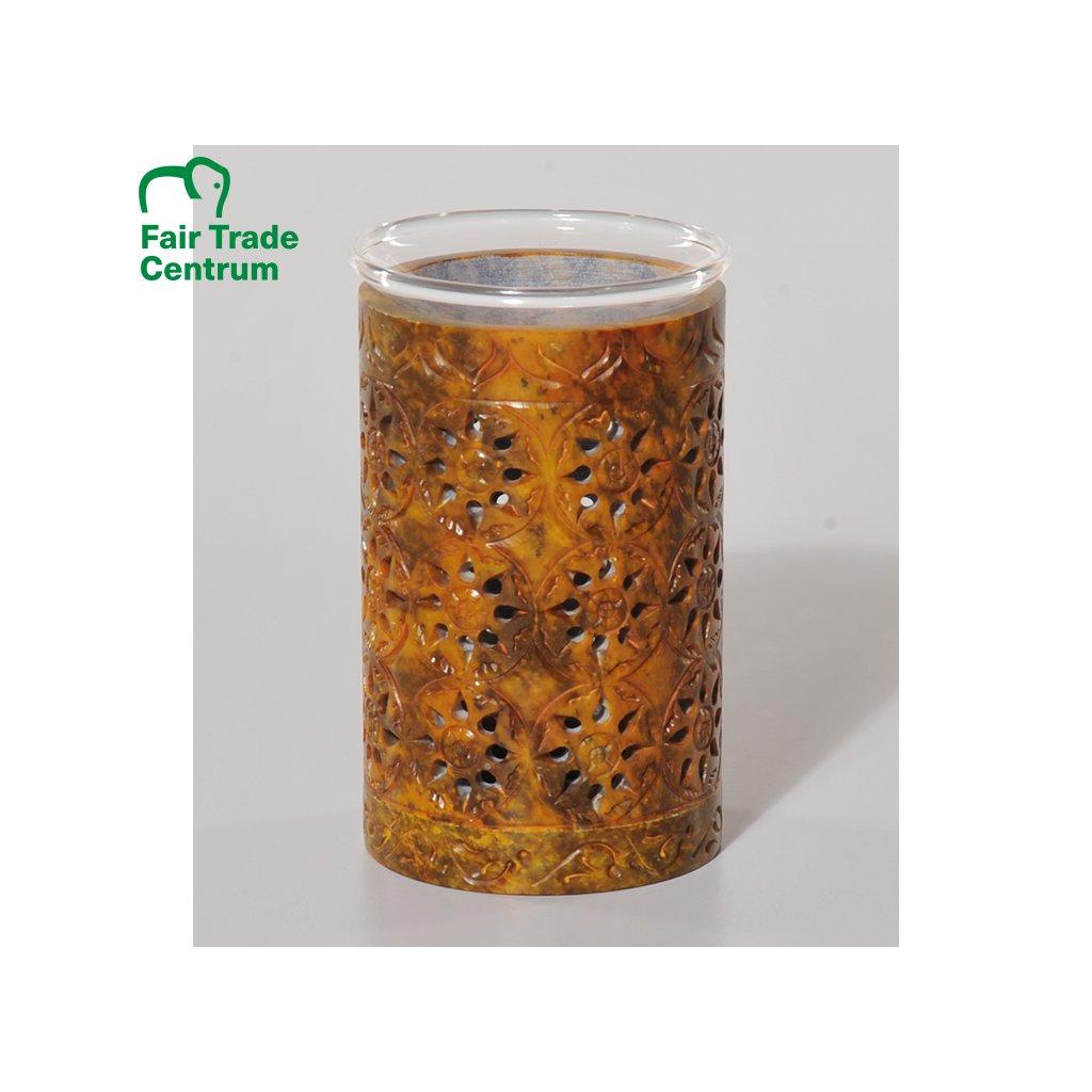 Fair Trade aroma lampa z mastku z Indie