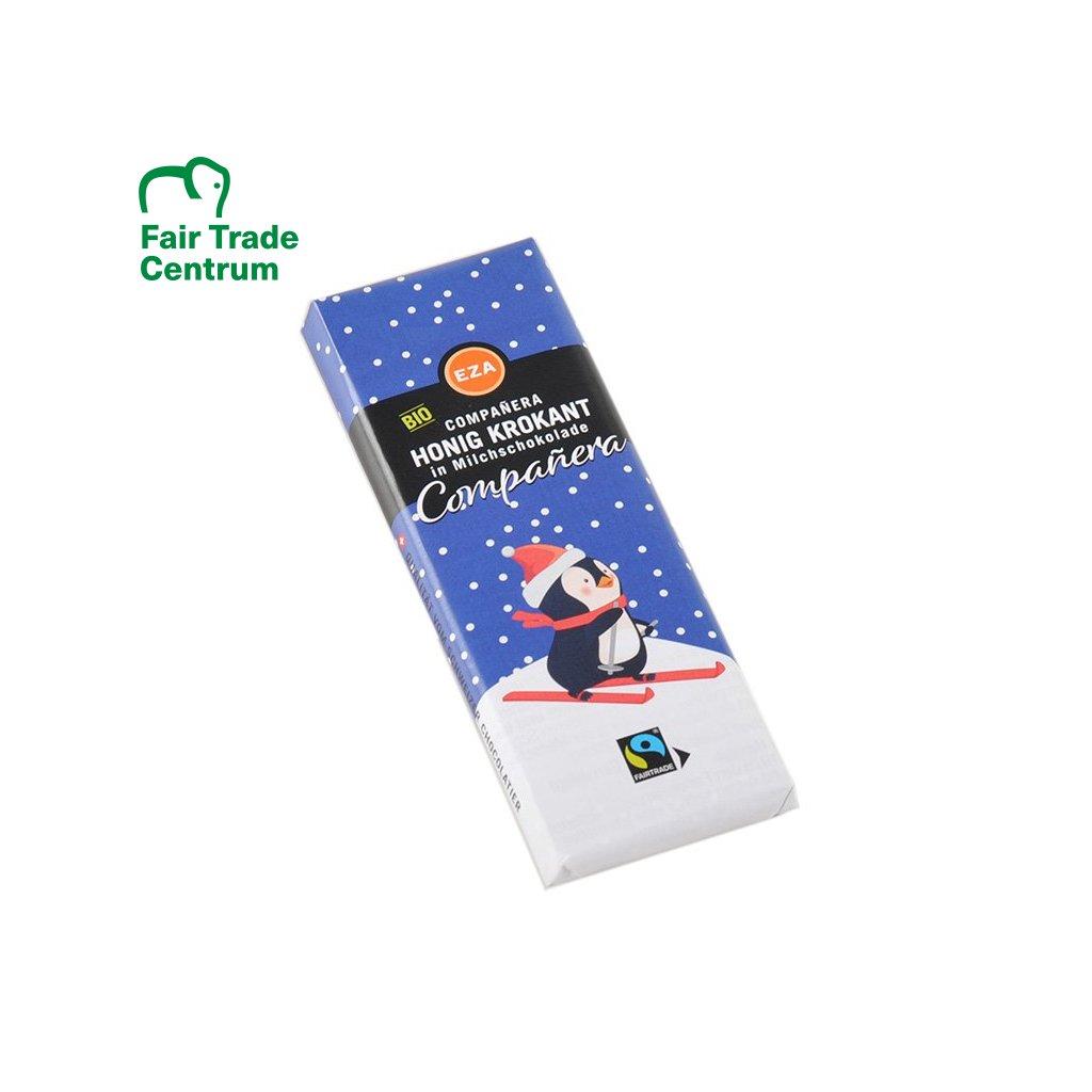 Fair Trade bio mléčná čokoláda Sněhulák, 50 g