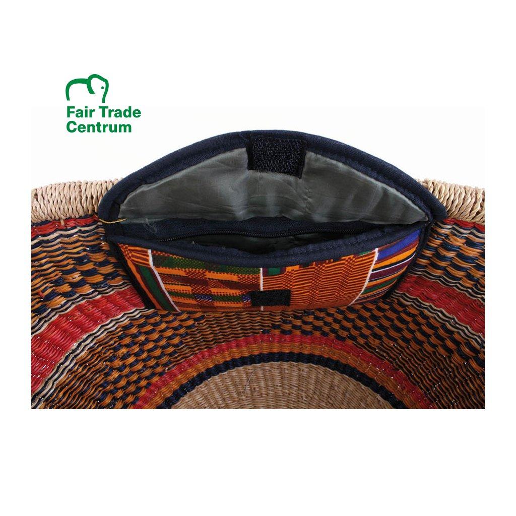 a7e5d7dae Koš Bolga s vnitřní kapsou z Ghany, modrý - Fair Trade Centrum