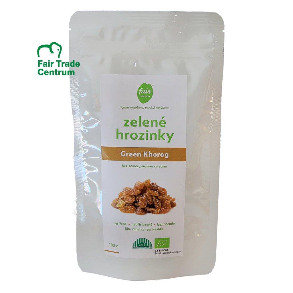 Fair trade bio zelené hrozinky Khorog, sušené ve stínu, 100 g