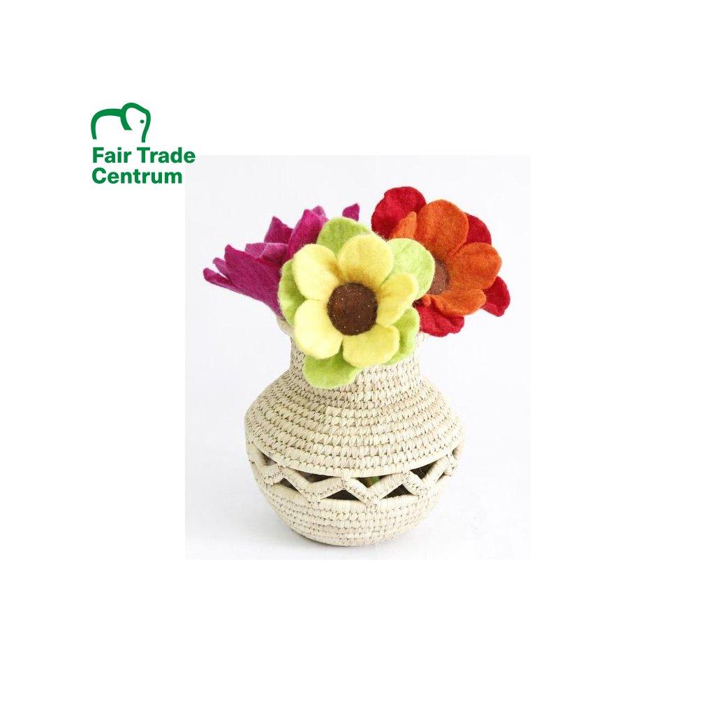 Fair Trade váza z palmového listí z Bangladéše