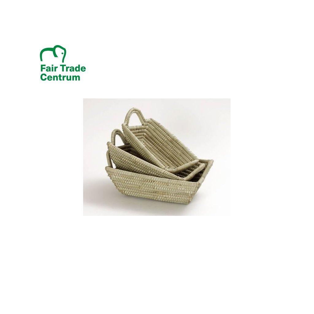 Fair Trade košík s uchy z mořské trávy z Bangladéše