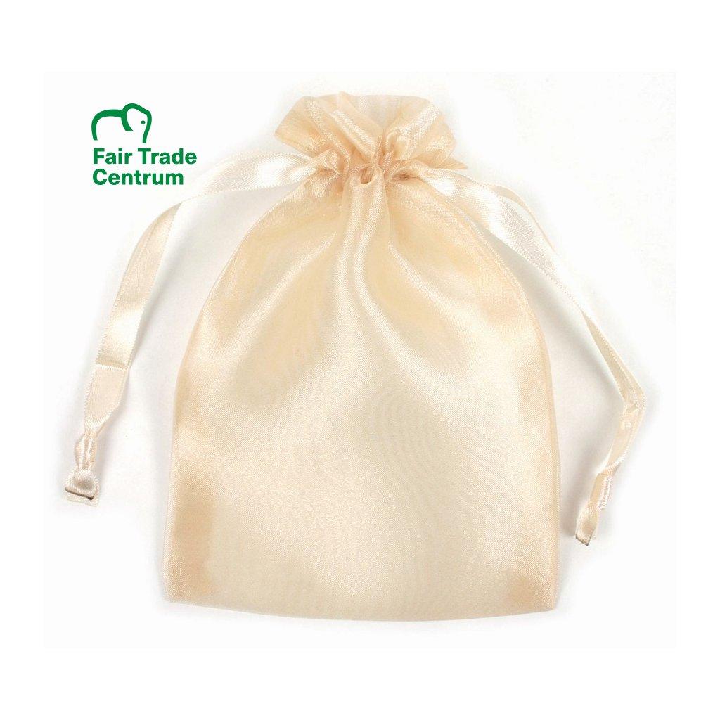 Fair Trade dárkový sáček z organzy