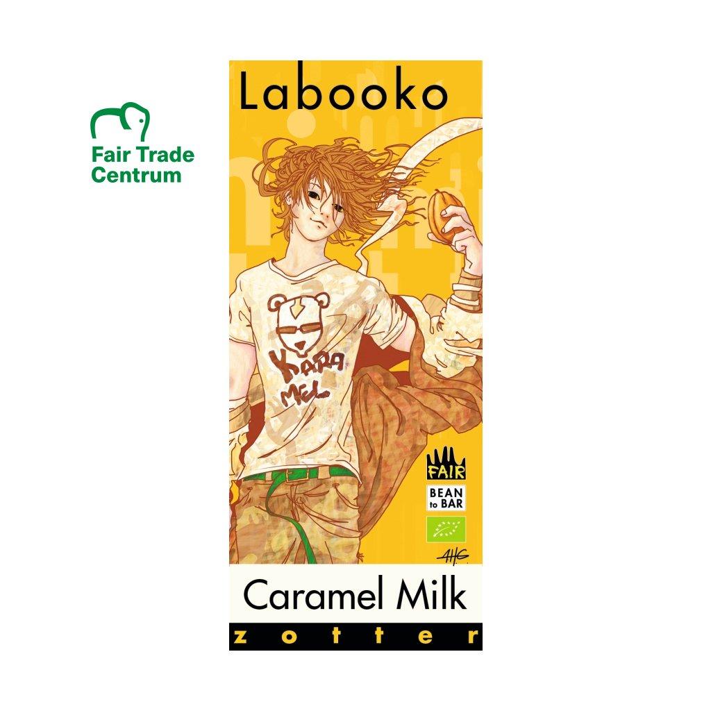 Fair Trade bio karamelová mléčná čokoláda Zotter, 70 g
