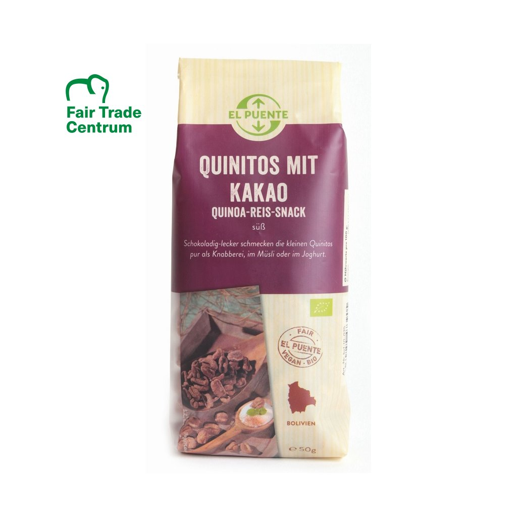Fair Trade bio quinitos s kakaem, 50 g