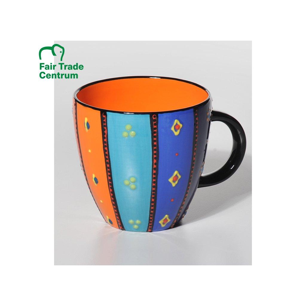 Fair Trade hrnek Lonwabo Rainbow z Afriky, 500 ml