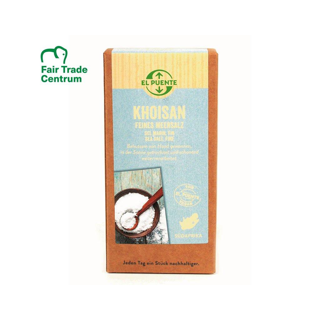 Fair trade mořská sůl Khoisan jemná z JAR, 500 g