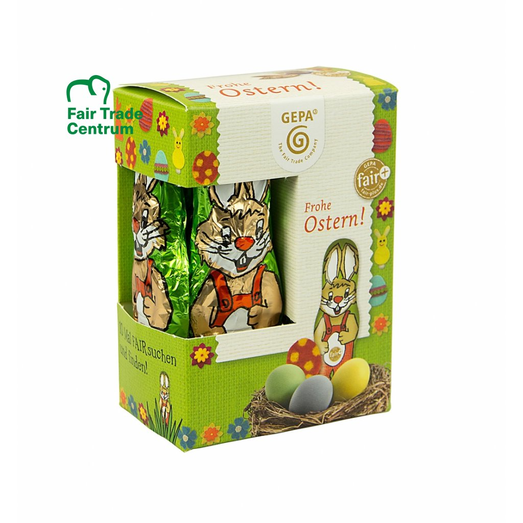 Fair Trade bio mini čokoládový zajíček, 12,5 g