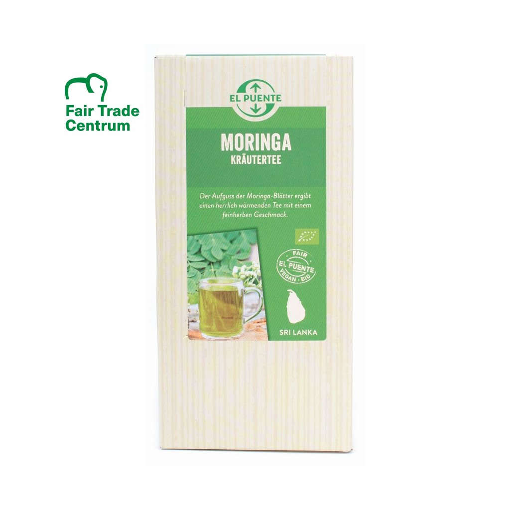 Fair Trade bio moringa, sypaný čaj ze Šrí Lanky