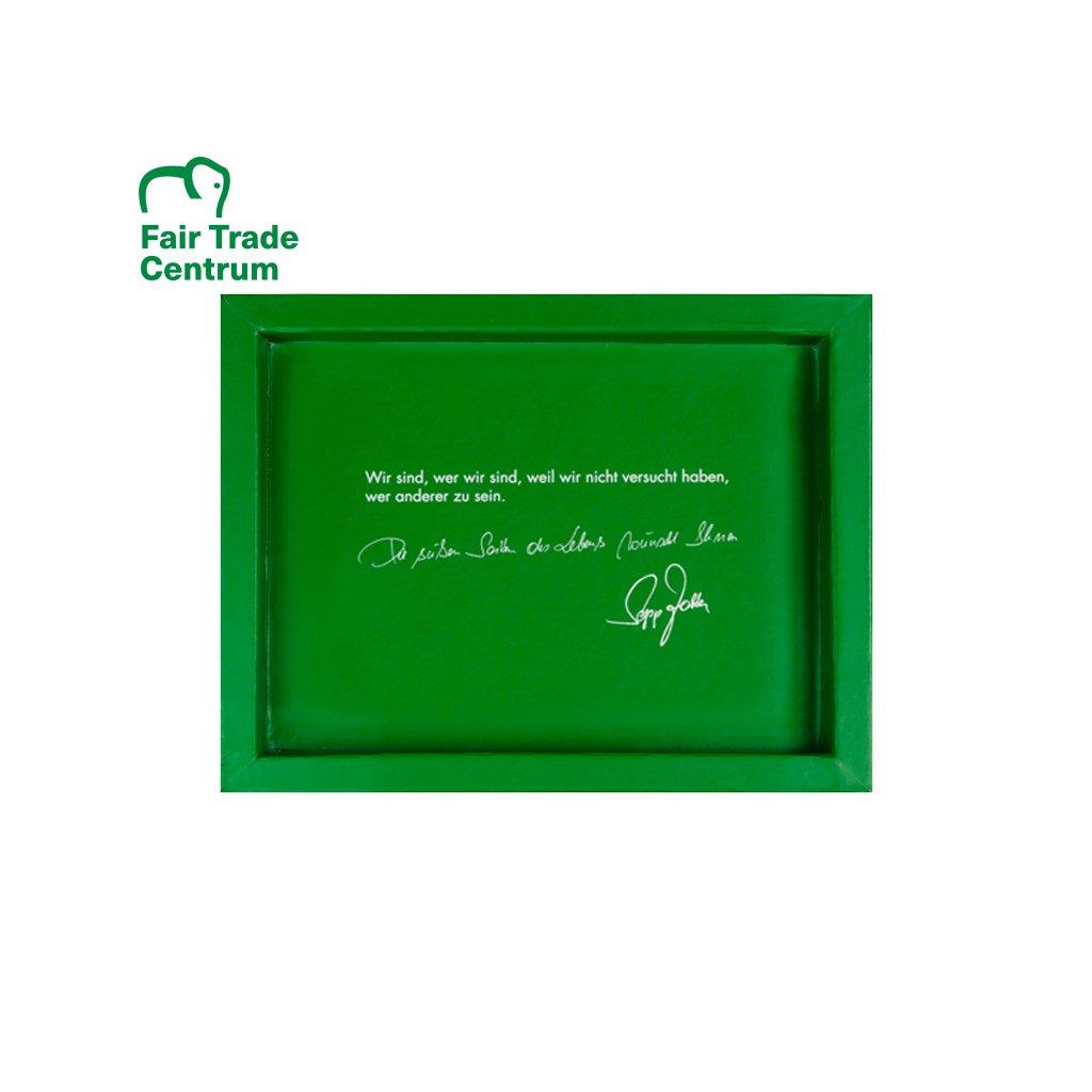 Dárková krabička Zotter zelená na 3 čokolády