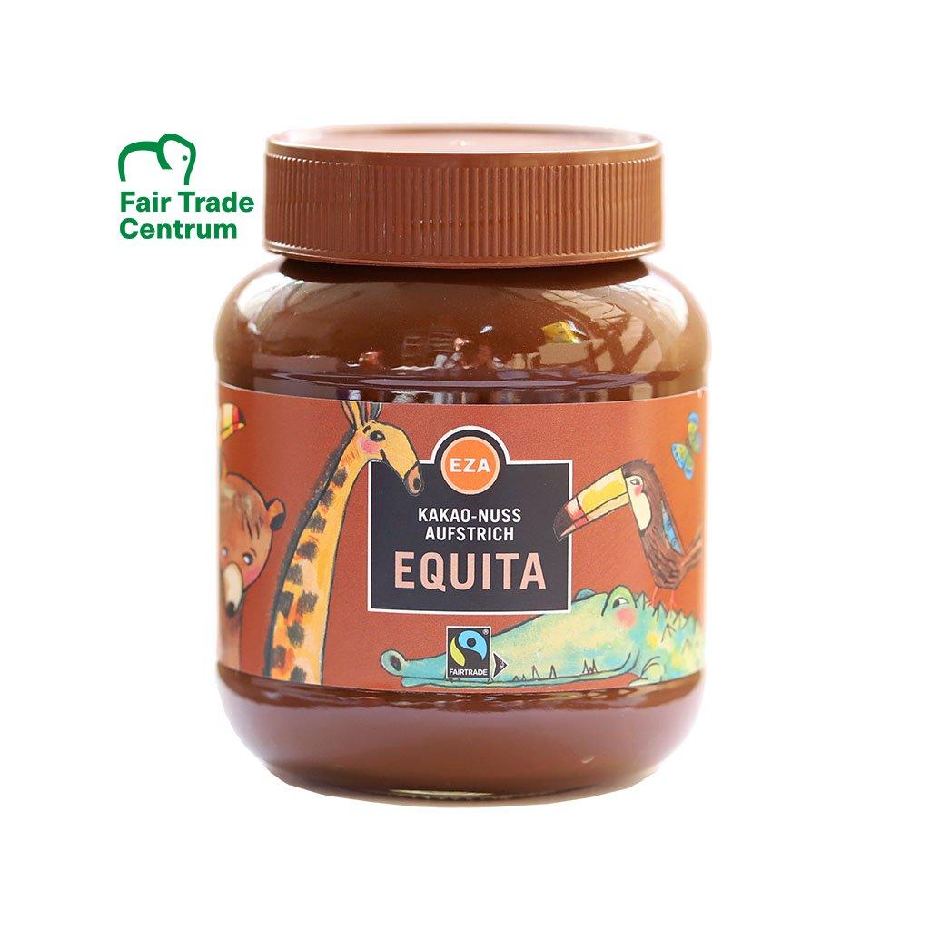 Fairtrade čokoládový krém bez lepku Equita s lískovými oříšky