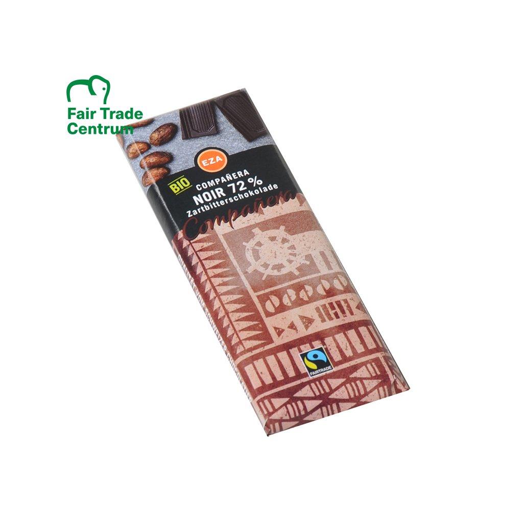 Fairtrade bio hořká čokoládka se 72 % kakaa, 50 g