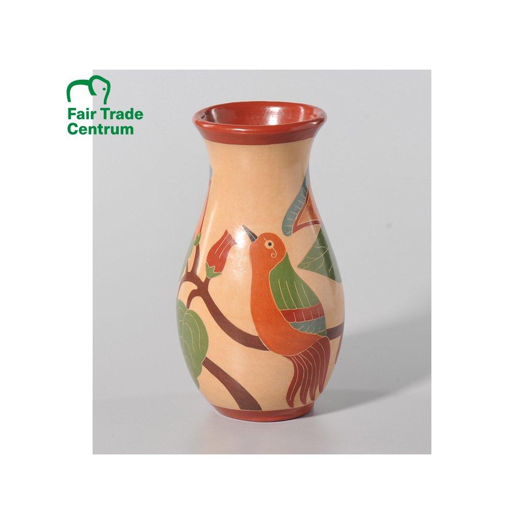 Fair Trade hliněná předkolumbovská váza z Nikaraguy