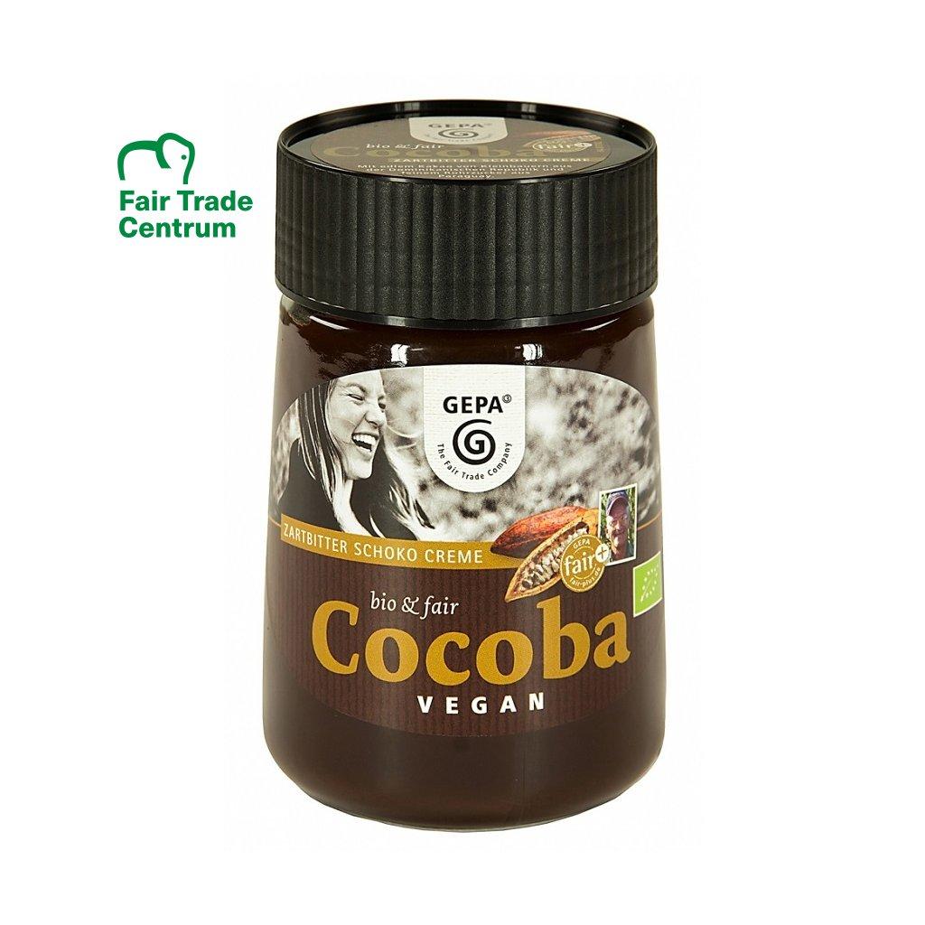 Fair trade bio vegan krém z hořké čokolády Cocoba Dark