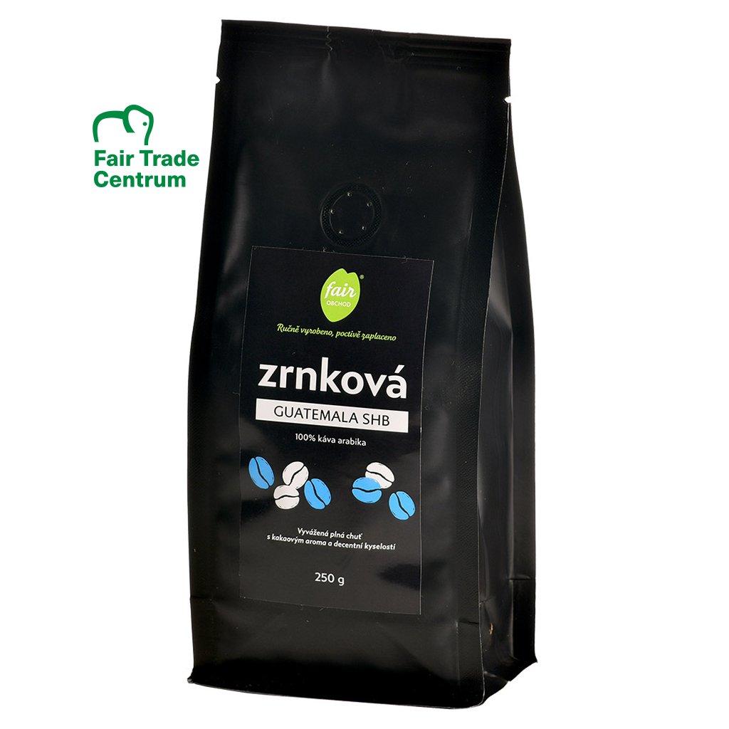 Fair trade čerstvě pražená zrnková káva Guatemala SHB, 250 g