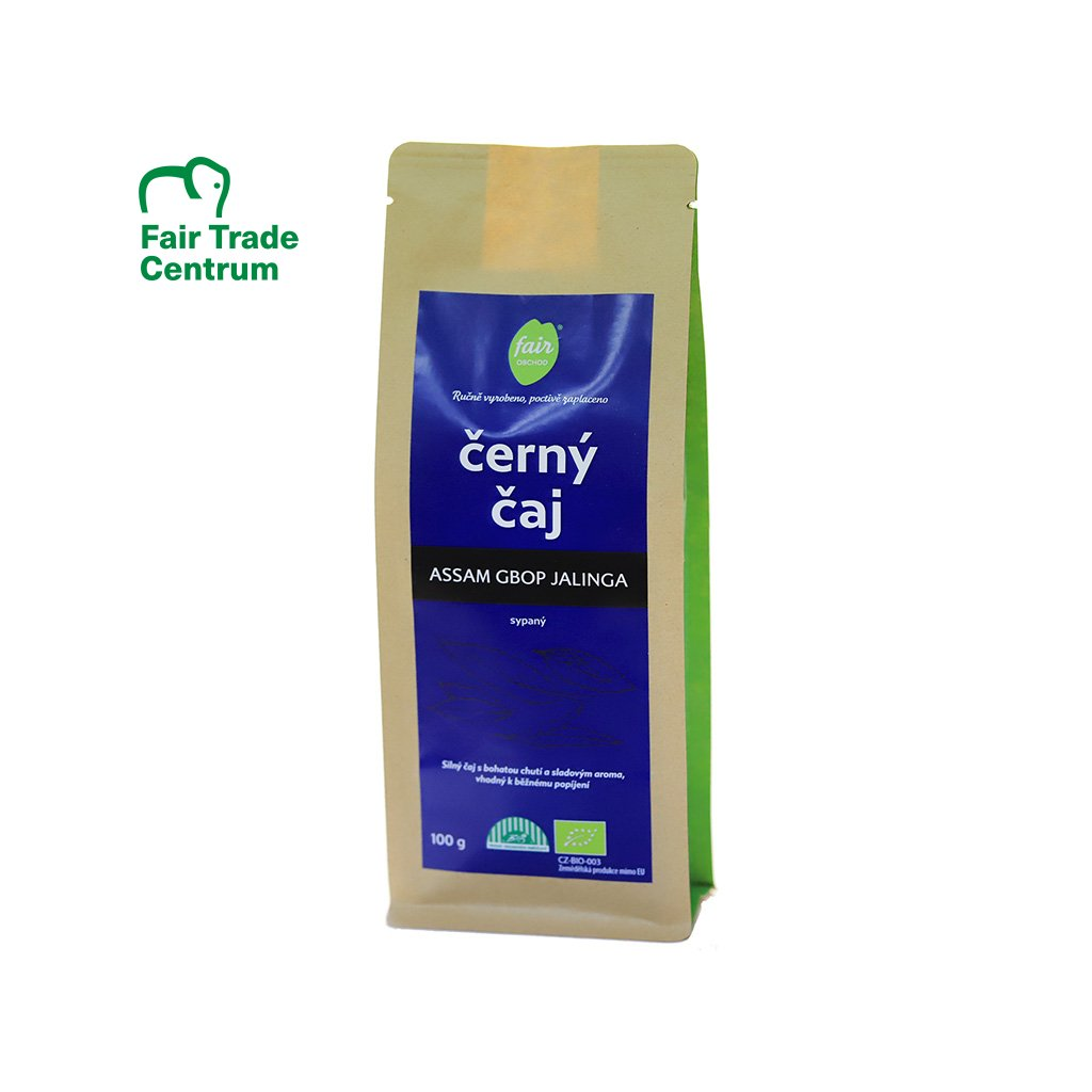 Fair trade bio černý čaj Assam GBOP Jalinga, sypaný 100 g