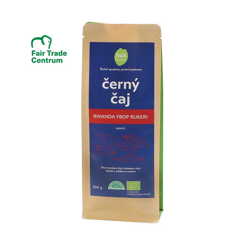 Fair trade bio černý čaj Rwanda FBOP Rukeri sypaný, 100 g