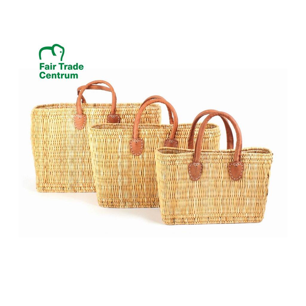 Přírodní fair trade proutěná taška ze stepní trávy z Maroka