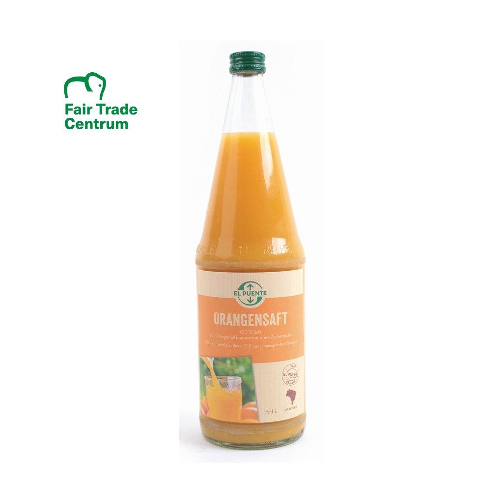 Fair trade pomerančová šťáva z Ghany a Brasílie, 1000 ml