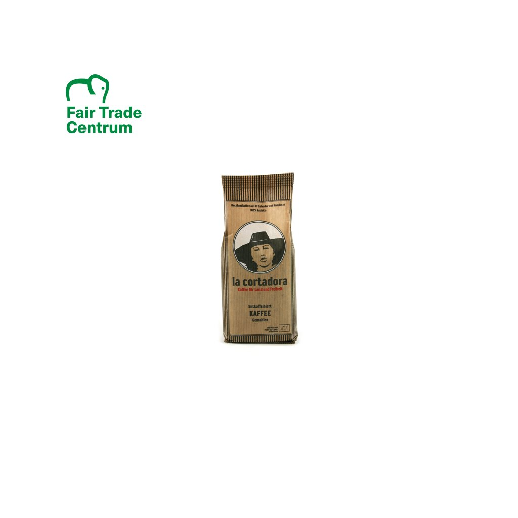 Bio mletá káva bez kofeinu La Cortadora, 250 g