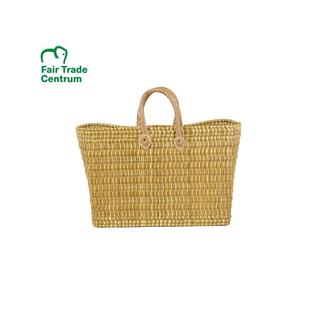 Fair trade proutěná taška z mořské trávy z Maroka, přírodní