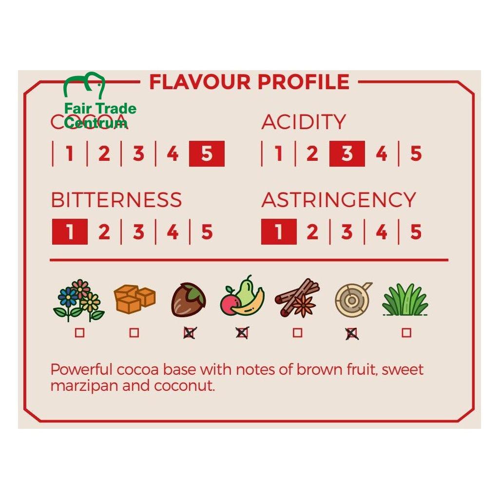 Bio nepražené kakaové boby Dominicana Hispaniola, 1 kg