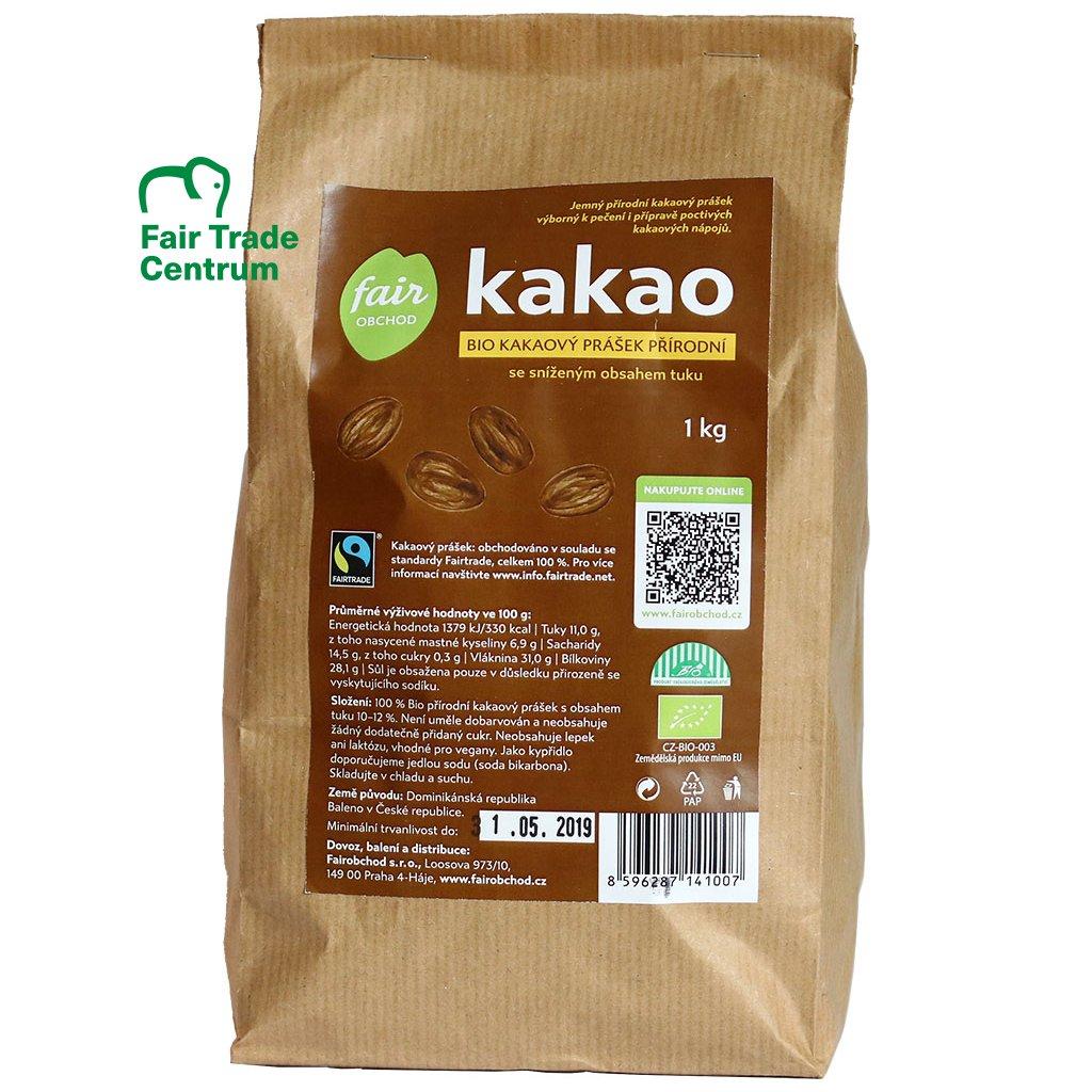 Bio kakaový prášek přírodní, 1 kg