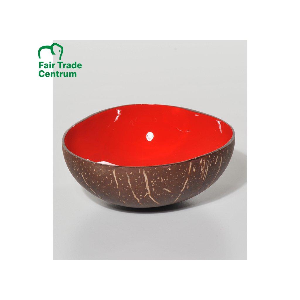 Kokosová miska, červená, 14 cm