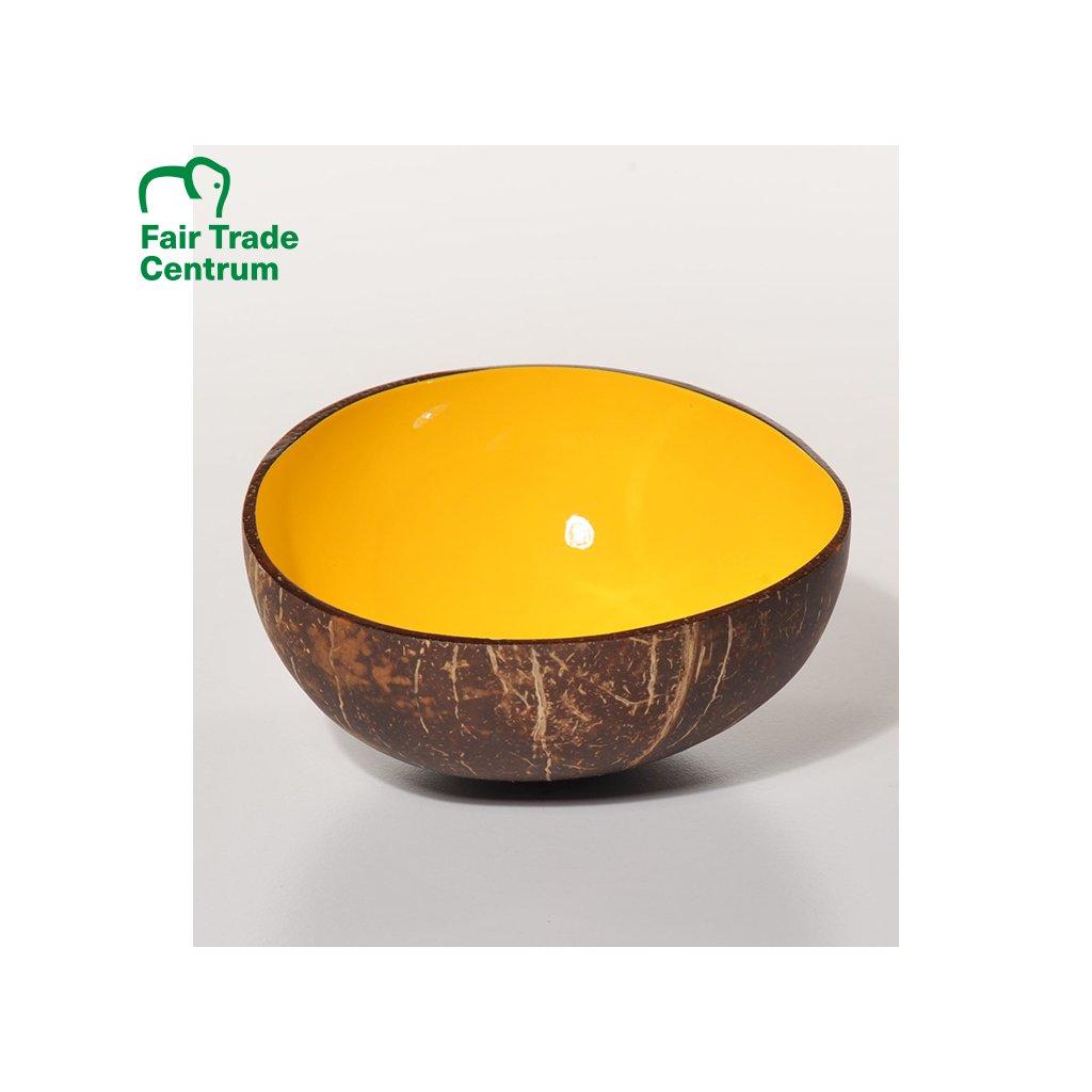 Kokosová miska, žlutá, 13 cm