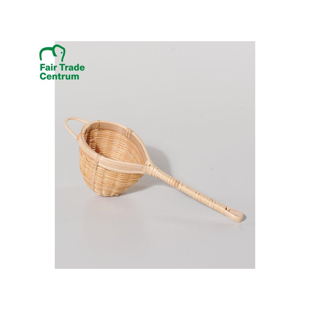 Bambusové sítko na čaj z Bangladéše, 22 cm