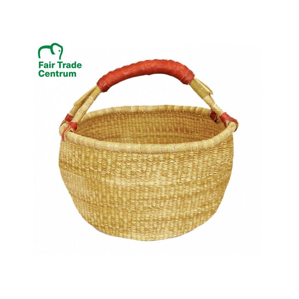 Přírodní fair trade bolga koš z Ghany