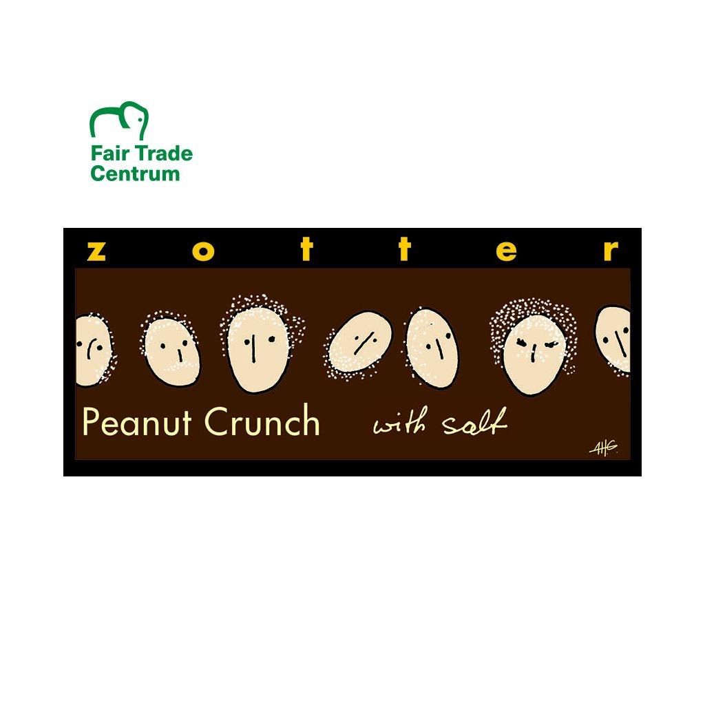 Fair trade bio hořká čokoláda Zotter Solené arašídy