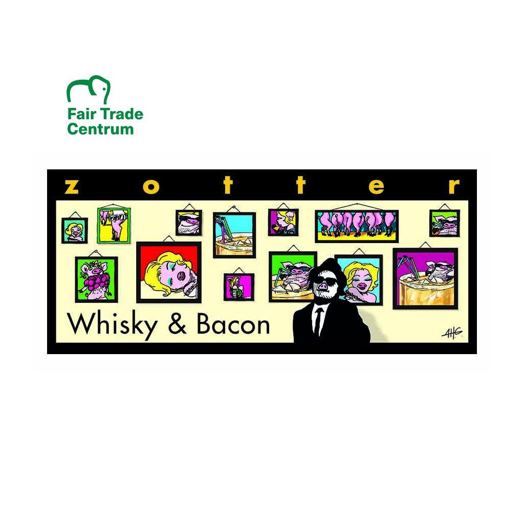 Fair trade bio hořká čokoláda Zotter Whisky a slanina