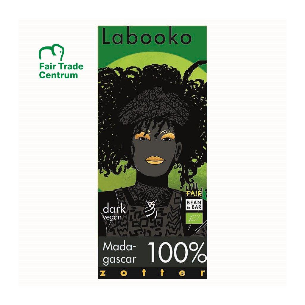 Fair trade bio hořká čokoláda Zotter Labooko Madagaskar 100 %