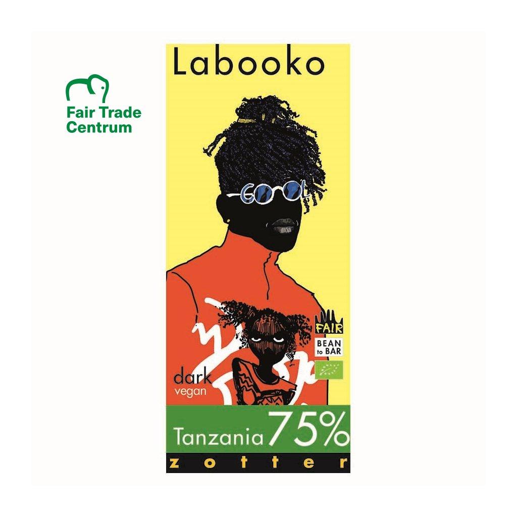 Fair trade bio hořká čokoláda Zotter Labooko Tanzanie 75 %