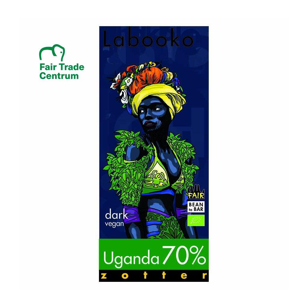 Fair trade bio hořká čokoláda Zotter Labooko Uganda 70 %