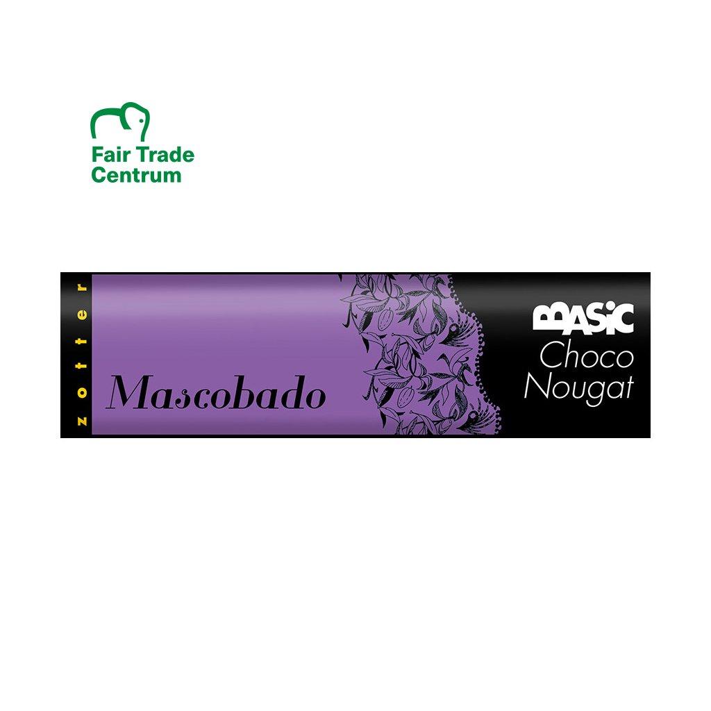 Fair trade bio čokoládový nugát Zotter couverture třtinový cukr Muscovado, 130 g