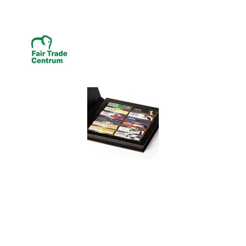 Bio kolekce ručně dělaných čokolád Zotter Minis, 12 druhů, otevírací