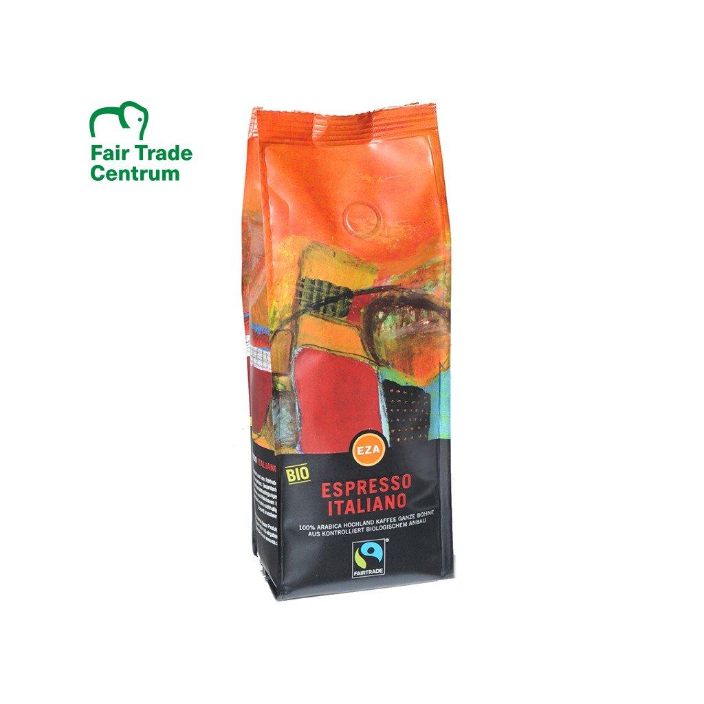 Fairtrade bio zrnková káva Italské espresso, 1 kg