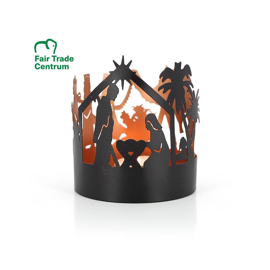 Fair trade Betlém na svíčku, měděný