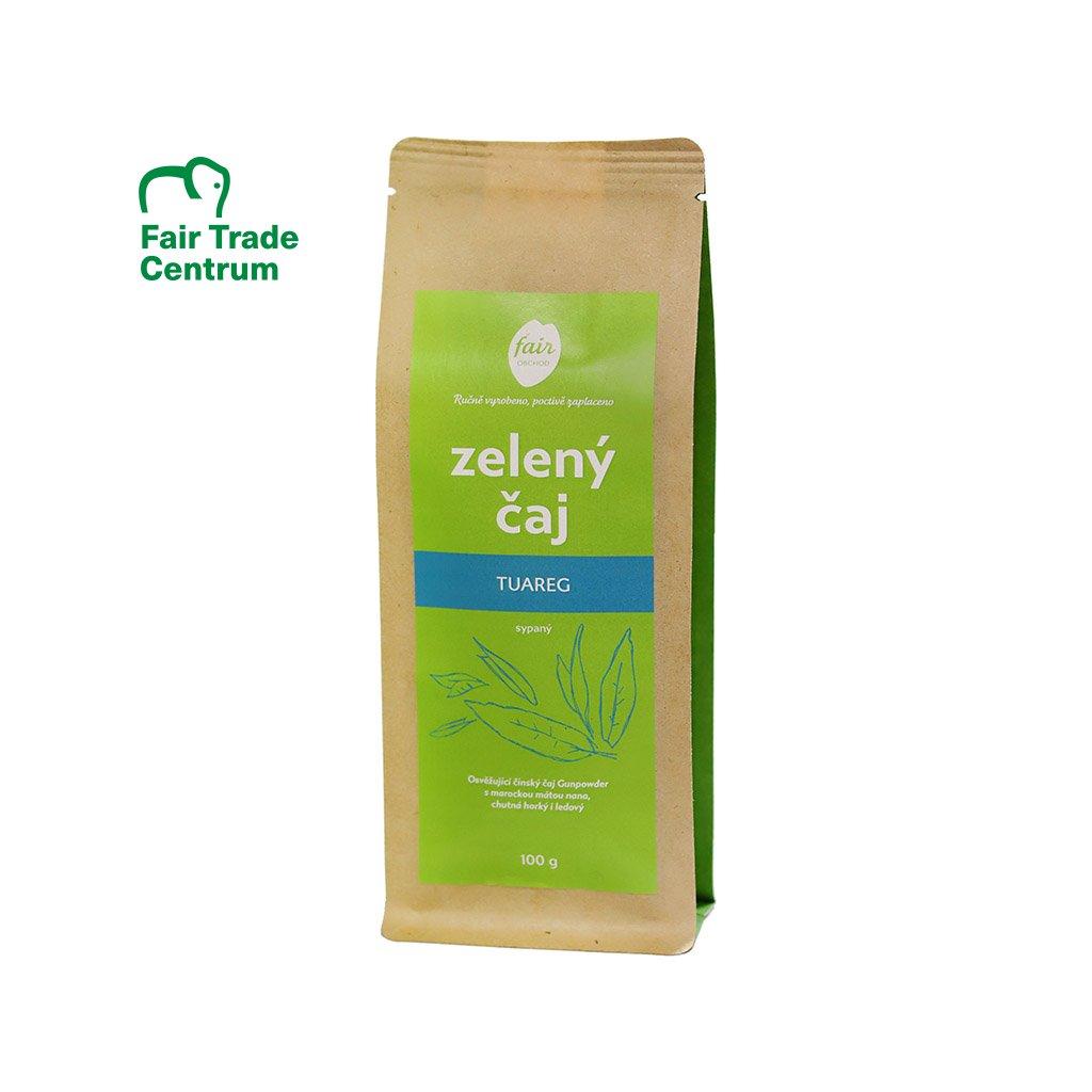 Fair trade zelený čaj sypaný Tuareg s mátou, 100 g