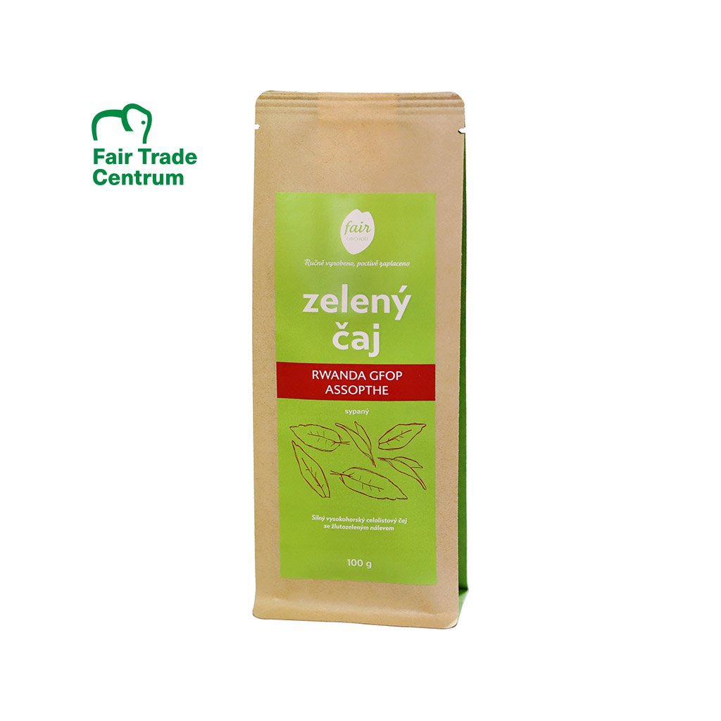 Fair trade zelený čaj sypaný Rwanda GFOP Assopthe, 100 g