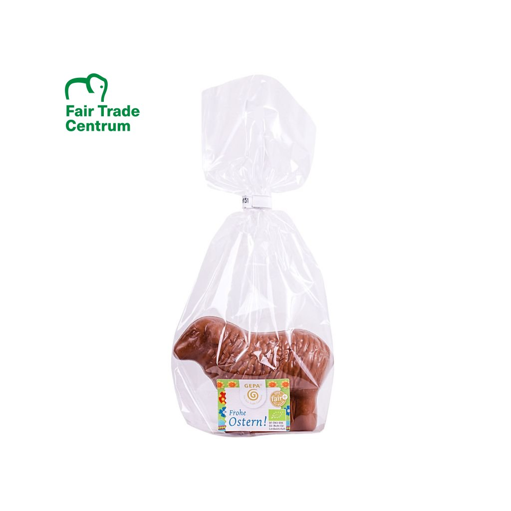 Fair trade bio velikonoční ovečka z mléčné čokolády, 50 g