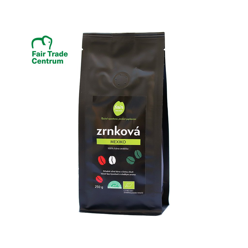Fair trade bio zrnková káva Mexiko, 250 g
